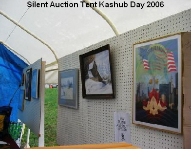 Silent Auction Tent Kashub Day 2006