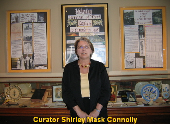 Curator Shirley Mask Connolly