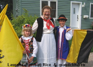 Lauretta (Burchat) Rice  &  grandchildren
